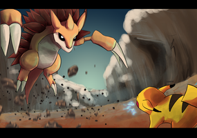 Day #28 - Sandslash by takugirl