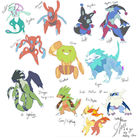 Fakemon doodles by Shutwig