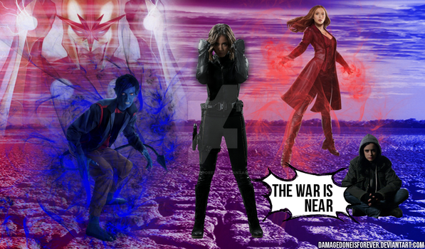 The war is near - Infinity War Wallpaper by DamageDoneIsForever