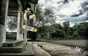 Kickflip Drop Gap by KadirIsAskater