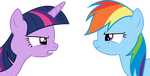 Twilight and Rainbow Dash arguing... by Skie-Vinyl