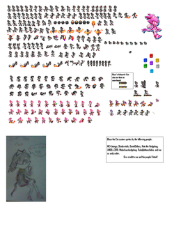 Eve the Cat sprite sheet by tsuki018