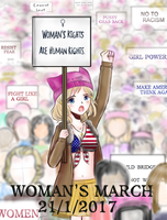 (APH) Nyo!America  - Woman's march by madisoncamellia