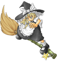 Touhou - Broom Riding by Minon
