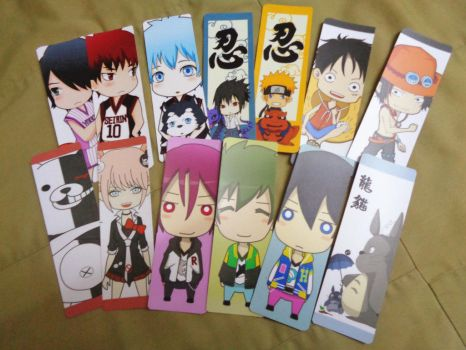 Anime Bookmarks by J,K by Ether-Nether