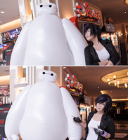 Gogo and Big Baymax by Inushio