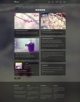 Obscura Free Homepage PSD by elemis