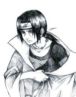 Itachi taking clothes off by Dzoan