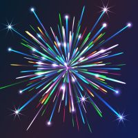 Colorful Vector Fireworks by lazunov