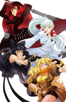 TEAM RWBY by nebularum