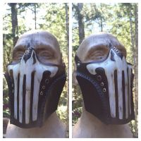 Leather Punisher mask by Skinz-N-Hydez