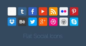 Flat Social Icons by MysteryWeb