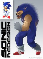 Sonic the Hedgehog redesign by pati88