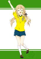 Mugi cheering for Brazil by RAFEPROJECT