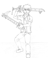 Keyblade Dude by Soldiers-of-Legacy
