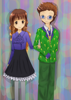 COMM: Aurelie and Riddler by tomoyo-chan10