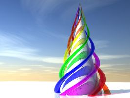 Rainbow Spire by Lyle-the-Hobo