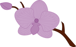 Lilac Orchid Cutie Mark by whizzball2