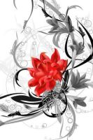 cool red flower design by Love-Pixie