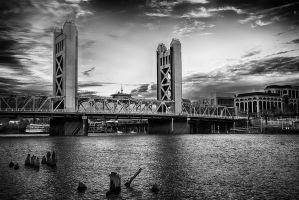 Old Sac In Black And White by o0oLUXo0o