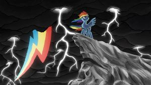 Rainbow Storm by Senselesssquirrel