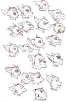 Lotsa lombax heads by Gashu-Monsata