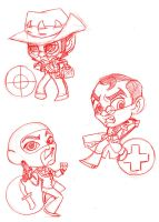 tf2 chibis by selene-nightmare69