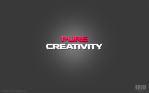 Pure Creativity Wallpaper PSD by prdx-design