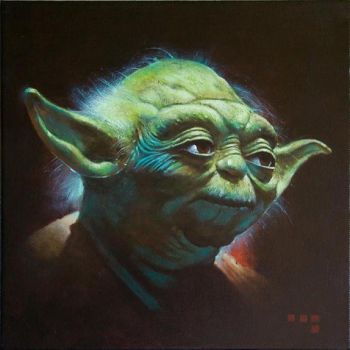 Yoda 12x12 inches Oil on Canvas, 2010 by Duncanmattocks