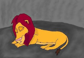 Sleeping Simba by Keta97