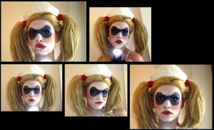 Harley Quinn Arkham Asylum Make-Up Test 3 by MadameSkunk
