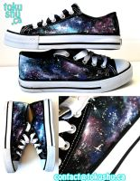 Galaxy Shoes by artsyfartsyness
