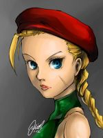 Super Street Fighter Cammy Sketch by NekoponArt