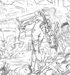 Lineart: Metroid Infection by PeterPrime