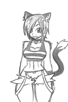 Another kitty girl sketch by Ruxikah