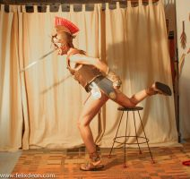 Roman Warrior Dressed 1 by TheMaleNudeStock