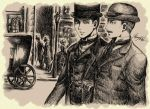 Street: Holmes and Watson by baronpluto