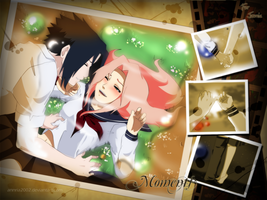 Commission: SasuSaku MOMENTS by annria2002