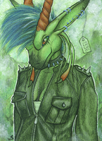 ACEO/ATC: Sybila - The Punk Queen by Samantha-dragon