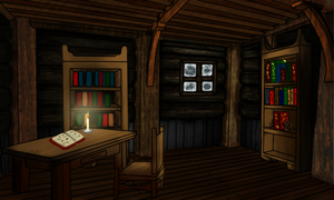 Log cabin library for ToD by kristhasirah