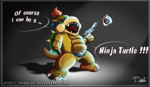 Bowser Jr Version Ninja Turlte by PAabloO