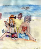 Just a Day at the Beach :3 by Warped-Dragonfly