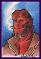 Hellboy ACEO by Nathaldron