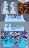 Warmore Background Sketches by vandalk
