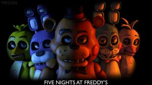 Five Nights at Freddy's Banner by Trycon1980