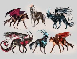Maned Wolfpack Adopts6 (closed) by Furrirama