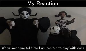 Agitha Tilda Too Old To Play With Dolls Meme by AgithaTilda