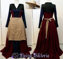 Flemish Working Class Gown by DaisyViktoria