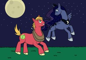 Moonlight Frolics: The Princess and the Farmer by m2cool