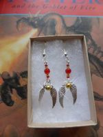 Gryffindor golden snitch earrings by Carrie-AnneSevenfold